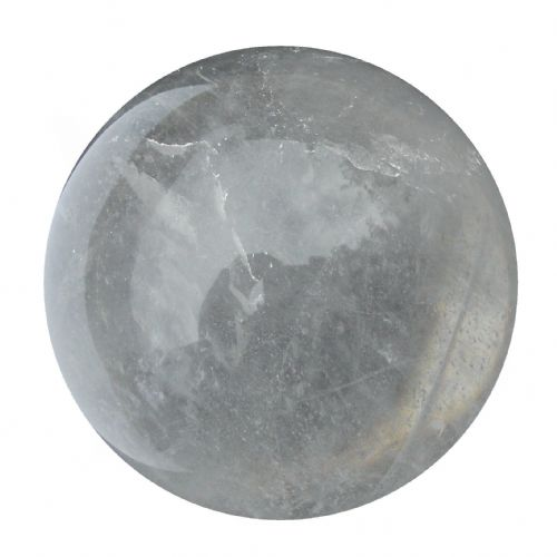 Rock Quartz Crystal Ball Scrying Gazing Fortune Telling Sphere 65mm 400g CB17